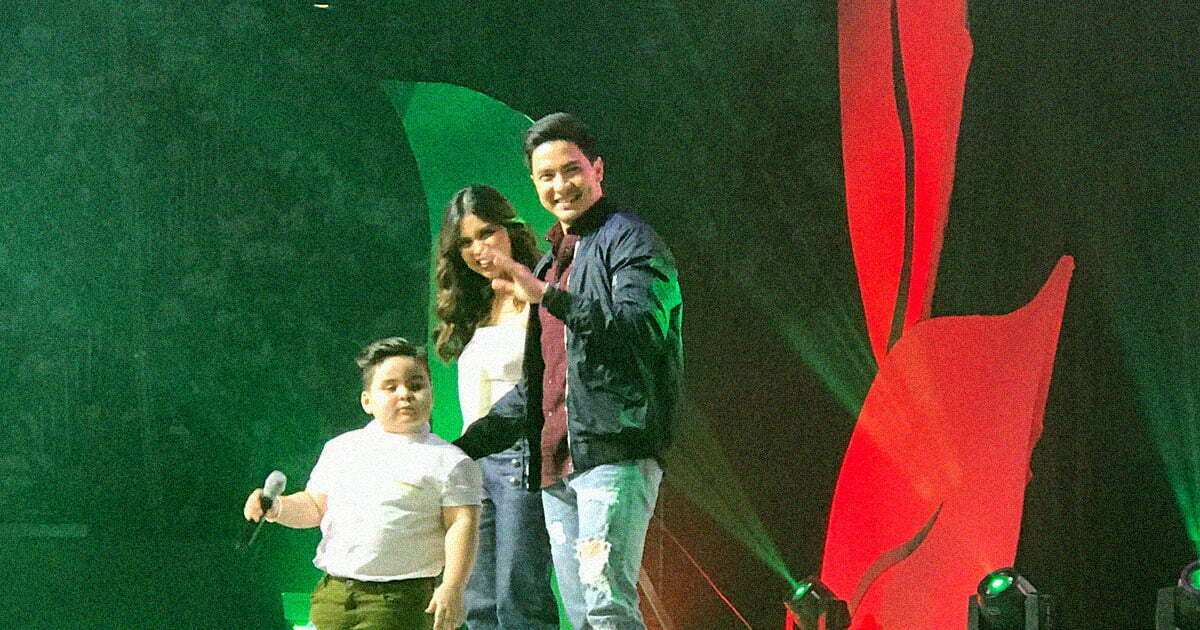 Baeby Baste, Maine Mendoza, at Alden Richards sa PLDT Gabay Guro Grand Gathering 2017 noong September 17, 2017 sa MOA Arena.