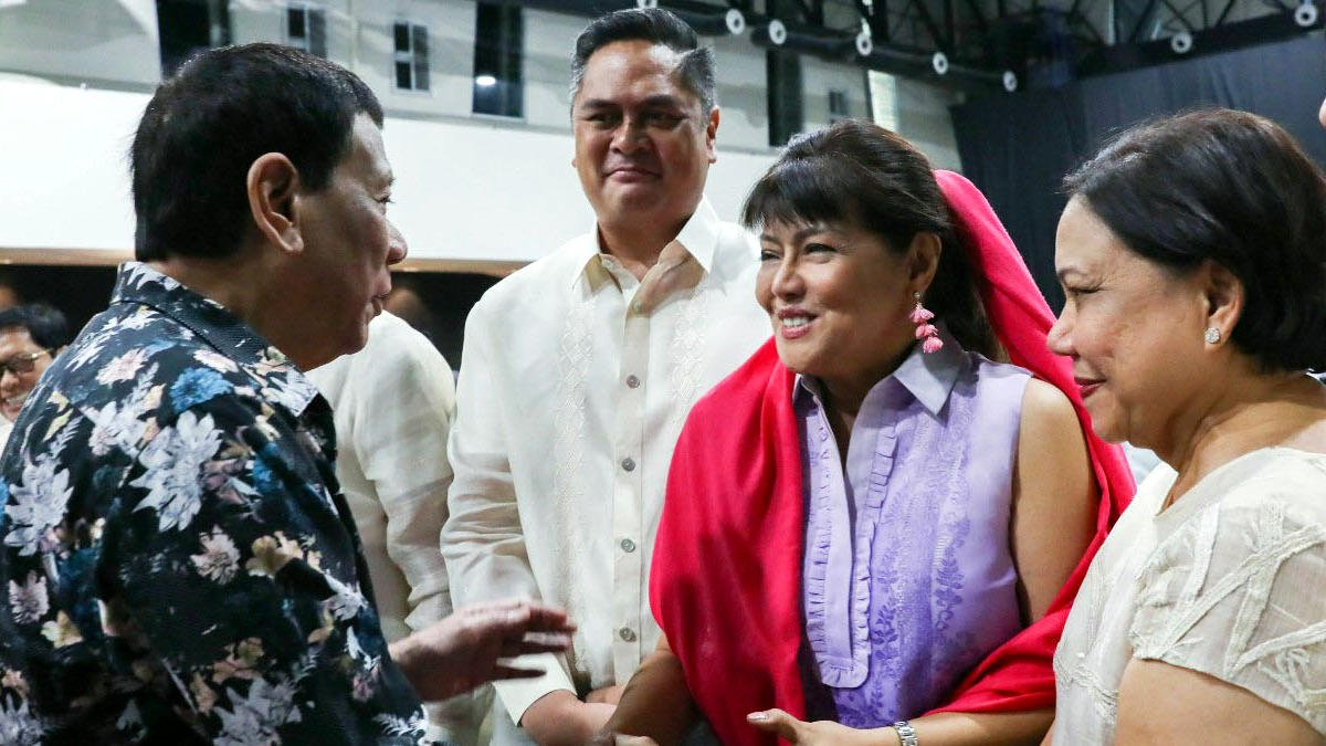 Rodrigo Duterte, Martin Andanar, Imee Marcos, and Cynthia Villar