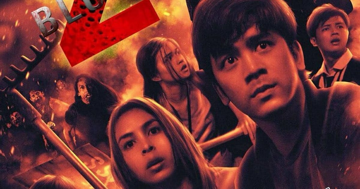 Julia Barretto and Joshua Garcia on the 'Block Z' theatrical release poster